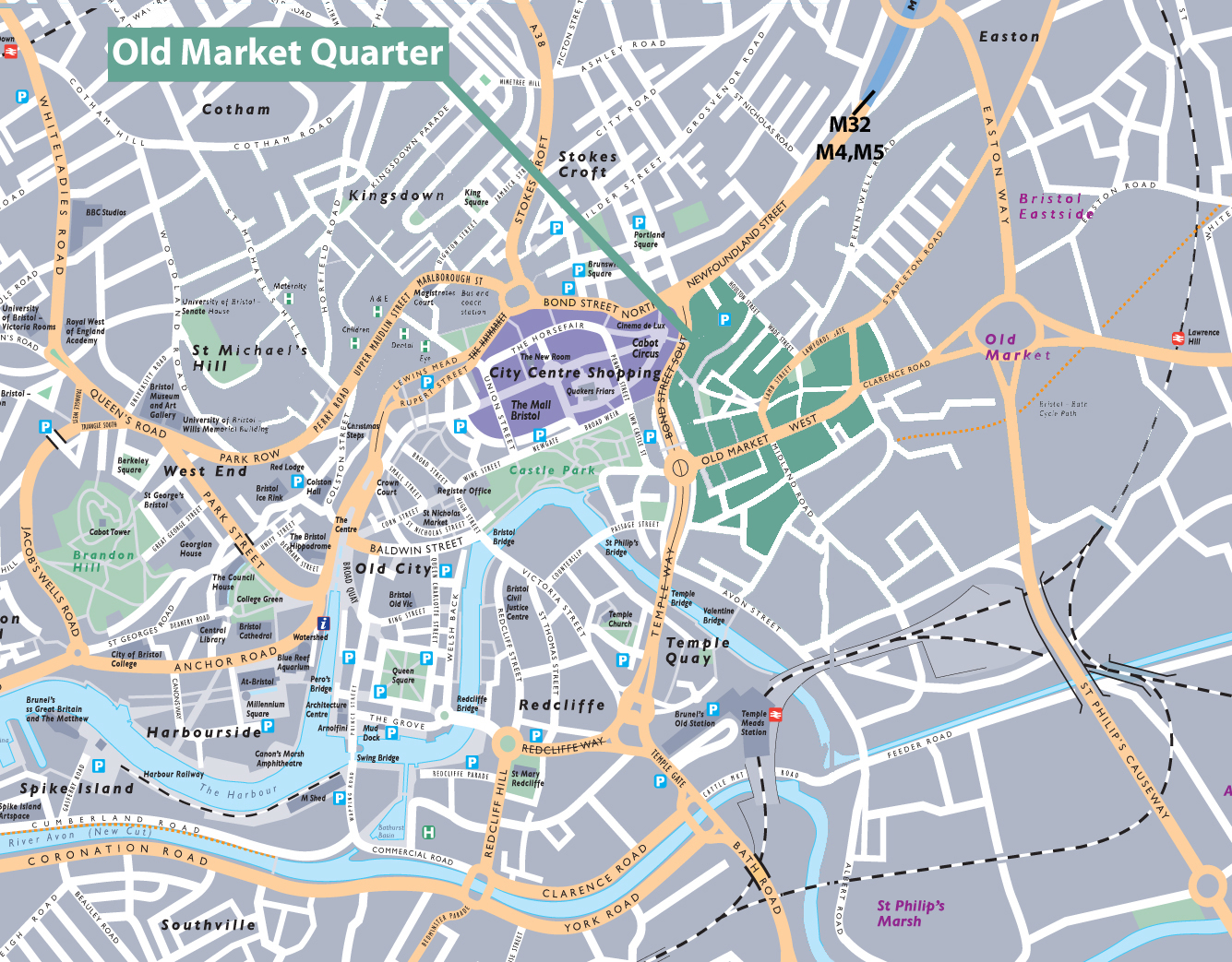 old market Quarter location map